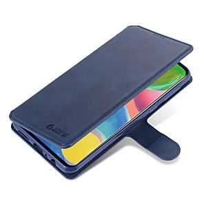 cheap Samsung Case-Case For Samsung Galaxy Samsung Galaxy A10s / Samsung Galaxy A20s / A71 Wallet / Card Holder / Flip Full Body Cases Solid Colored PU Leather