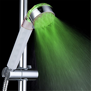 cheap Hand Shower-3-Color Temperature Sensitive LED Color Changing Hand Shower