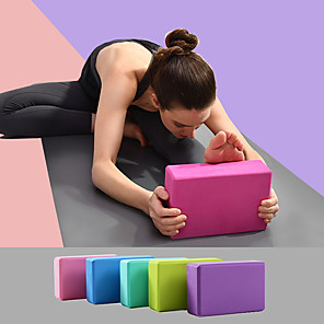 cheap Fitness Gear & Accessories-Yoga Block 1 pcs 23*15*7.5 cm Waterproof Odor Free Eco-friendly Non Slip High Density Non Toxic Foam EVA Strength Training Support and Deepen Poses Aid Balance And Flexibility for Yoga Pilates Bikram