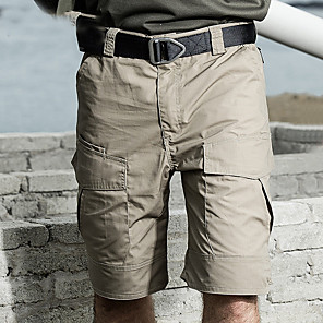 cheap Hiking Trousers & Shorts-Men's Hiking Shorts Hiking Cargo Shorts Camo Summer Outdoor Standard Fit Waterproof Windproof Breathable Quick Dry Shorts Bottoms Jungle camouflage Black Camouflage Khaki Green Hunting Fishing