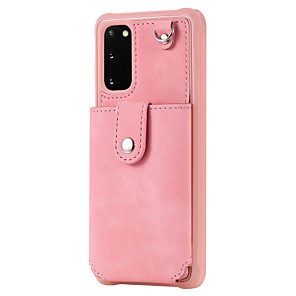 cheap Samsung Case-Case For Samsung Galaxy S20 Plus / S20 Ultra / S20 Shockproof Back Cover Solid Colored PU Leather