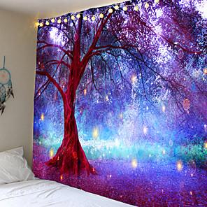 cheap Wall Tapestries-Mooie Natuurlijke Bos Gedrukt Grote Wandtapijten Goedkope Hippie Muur Opknoping Bohemian Wandtapijten Mandala Muur Art Decor