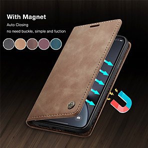 cheap Samsung Case-Magnetic Flip Wallet Phone Case For Samsung Galaxy S20 Ultra S20 Plus A51 A71 A91 A81 S10 Plus 5G Note 10 Pro S8 S9 Plus S7 Edge A80 A90 A70 A50 A40 A30 A20 A10 A20e Hard Cover Card Slots with Stand
