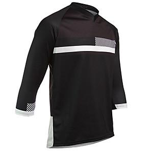 cheap Cycling Jerseys-21Grams Men's Long Sleeve Cycling Jersey Downhill Jersey Dirt Bike Jersey Spandex Polyester Black / Red Black Black / Blue Gradient Bike Jersey Top Mountain Bike MTB Road Bike Cycling UV Resistant