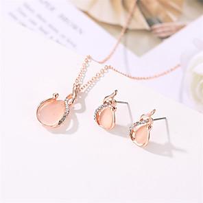 cheap Jewelry Sets-Women's Jewelry Set European Casual / Sporty Earrings Jewelry Rose Gold For Street Festival 1 set