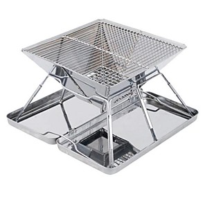 cheap Cell Phones-Hot Selling Outdoor Stainless Steel BBQ Grill Folding Grill Incinerator Field BBQ Charcoal Stove