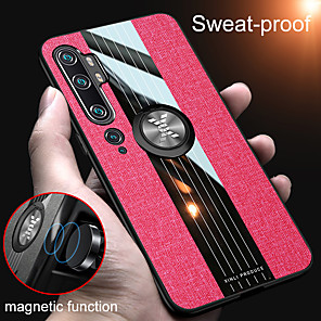 cheap Xiaomi Case-Magnetic Ring Holder Fabric Soft TPU Frame Case For Xiaomi Mi 10 Pro Mi CC9 Pro CC9e Mi 9T Mi 9 SE Mi Note 10 Pro Redmi K30 Pro K20 Pro Note 8 Pro Note 7 Pro Redmi 8 Shockproof Hard Cloth Back Cover