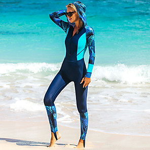 cheap Wetsuits, Diving Suits & Rash Guard Shirts-SBART Women's Rash Guard Dive Skin Suit Diving Suit Breathable Quick Dry Full Body Front Zip - Swimming Diving Surfing Patchwork / High Elasticity / UV Sun Protection