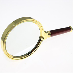 cheap Magnifying Glasses-80mm diameter 5 times exquisite mahogany handle reading magnifier