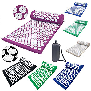 cheap Phone Mounts & Holders-Acupressure Mat and Pillow Set Yoga Mat Sports ABS Foam Cotton Ergonomic Design Easy to Carry Collapsible Massage Promote the head's blood circulation Relieve Neck and Shoulder Pain For Men Women