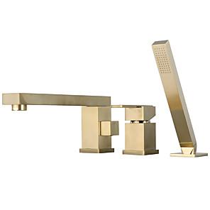 cheap Bathtub Faucets-Bathtub Faucet - Contemporary Electroplated Roman Tub Ceramic Valve Bath Shower Mixer Taps