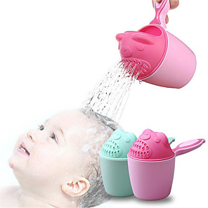 cheap Bathroom Gadgets-Baby Cartoon Bear Bathing Cup Newborn Kid Shower Shampoo Cup Bailer Baby Shower Water Spoon Bath Wash Cup for 2 Color
