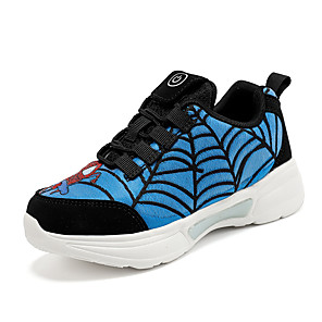 cheap Women's Boots-Boys' / Girls' LED Shoes Synthetics Trainers / Athletic Shoes Little Kids(4-7ys) / Big Kids(7years +) Running Shoes / Walking Shoes LED Red / Blue / Gray Summer / Fall / Color Block / Rubber