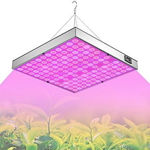 cheap Plant Growing Lights-Grow Light LED Plant Growing Light Full Spectrum 45W 144LED Beads Easy Install Highlight Energy saving 85-265V Greenhouse Hydroponic Vegetable Flower