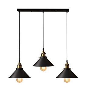 cheap Pendant Lights-OYLYW 3-Light 22 cm Island Design Pendant Light Metal Painted Finishes Vintage / Island 110-120V / 220-240V