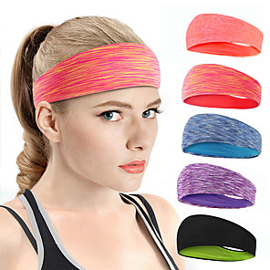 cheap Doorbell Systems-Sweat Headband Sweatband Sports Headband Men's Women's Headwear Solid Colored Breathable Quick Dry Moisture Wicking for Home Workout Fitness Gym Workout Autumn / Fall Spring Summer Black Purple Red