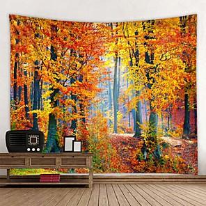 baratos Papel de Parede-Bela floresta natural impresso grande tapeçaria de parede hippie tapeçaria boêmio tapeçaria de parede mandala arte da parede decoração