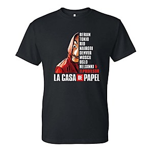 cheap Everyday Cosplay Anime Hoodies & T-Shirts-Inspired by la casa de papel Dali Cosplay Costume T-shirt Polyster Print Printing T-shirt For Men's / Women's