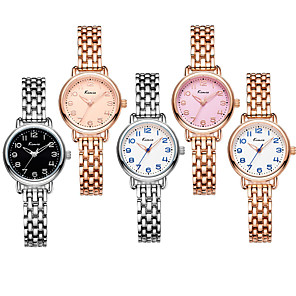 cheap Quartz Watches-Women's Quartz Watches Luxury Fashion Alloy Chinese Quartz Rose Gold White+Gold Blushing Pink Water Resistant / Waterproof 30 m Analog One Year Battery Life