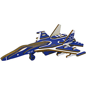 cheap Wooden Puzzles-3D Puzzle Model Building Kit Plane / Aircraft Fighter Aircraft DIY High Quality Paper Classic Kid's Unisex Boys' Girls' Toy Gift