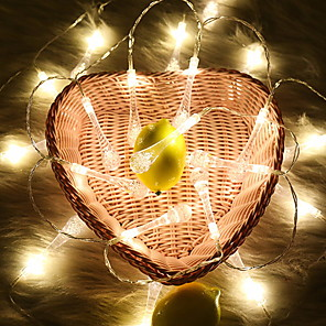 cheap LED String Lights-1m String Lights 10 LEDs Warm White Decorative / Christmas Wedding Decoration 5 V