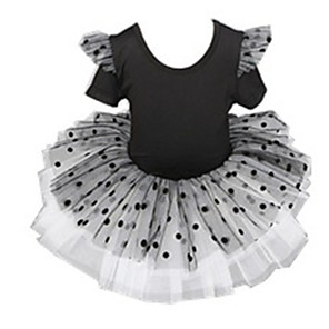 cheap Kids' Dancewear-Ballet Dress Cascading Ruffles Girls' Training Performance High POLY