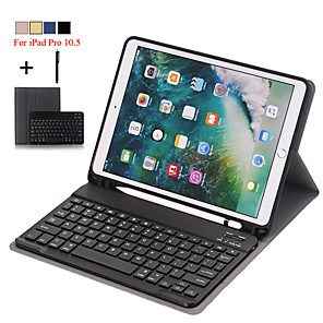 cheap Phablets-Case For iPad Pro 10.5  Detachable WiFi Bluetooth Keyboard Leather Cover For iPad Pro 10.5 inch FundaPencil Holder