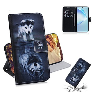 cheap Samsung Case-Case For Samsung Galaxy A20e / Galaxy Note 10 / Galaxy Note 10 Plus Wallet / Card Holder / Flip Full Body Cases Animal PU Leather For Galaxy S20 Ultra/A01/A21/A51/A71/A81/A91/A70E