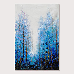 cheap Abstract Paintings-Mintura Large Size Hand Painted Knife Trees Landscape Oil Paintings on Canvas Modern Abstract Pop Art Wall Pictures For Home Decoration No Framed