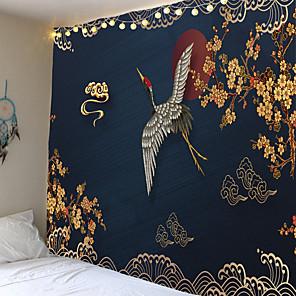 cheap Wallpaper-Tongdi Verdikte Boho Tapestry Olie Landschapsschilderkunst Afdrukken Muur Opknoping Mat Decoratie Voor Thuis Parlor Slaapkamer Woonkamer3 bestellingen