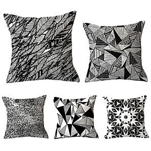 cheap Pillow Covers-5 pcs Throw Pillow Simple Classic 45*45 cm Cushion Vintage Circle Cover Sofa Home Decor Throw Pillow Case
