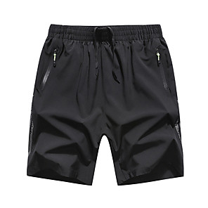 """cheap Hiking Trousers & Shorts-Men's Hiking Shorts Solid Color Summer Outdoor 7"""" Standard Fit Breathable Quick Dry Sweat-wicking Comfortable Shorts Bottoms Black Camping / Hiking Hunting Fishing L XL XXL XXXL 4XL / Wear Resistance"""