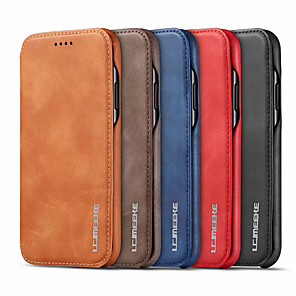 cheap Samsung Case-Leather Magnetic Flip Card Holder Phone Case for Samsung Galaxy S20 S20 Plus S20 Ultra S10 S10 Plus S10E S9 S9 Plus S8 S8 Plus S7 S7Edge