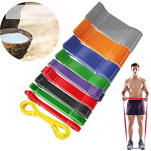 cheap Fitness Gear & Accessories-Pull up Assistance Bands 1 pcs Sports Latex Home Workout Gym Yoga Stretch Durable Strength Training Muscular Bodyweight Training Resistance Training For Men Women Shoulder Leg Forearm