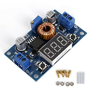cheap Relays-5A 75W DC to DC Converter Module Adjustable Step-Down Power Supply Module 4.0-38V to 1.25V-36V