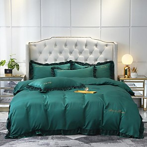 cheap High Quality Duvet Covers-Goddess Small Money Lace Decorative Quilt Cover 4 Piece Embroidery Piece Bedding Plain Sheets