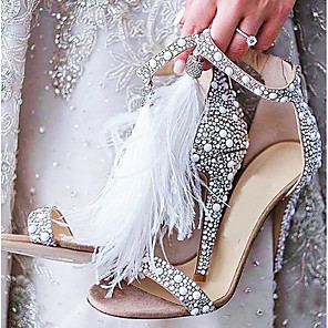 cheap Wedding Shoes-Women's Wedding Shoes Stiletto Heel Open Toe PU Spring & Summer Beige