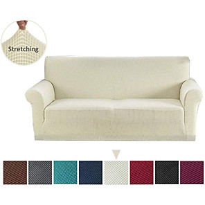 cheap Wall Stickers-Sofa Cover Couch Cover Furniture Protector Solid Color Soft Stretch Sofa Slipcover Super Strechable Cover Fit for Armchair/ Loveseat/ Three Seater/ Four Seater/ L Shape Sofa Easy to Install & Care  (F
