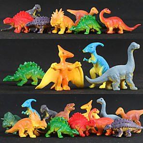 cheap Animal Action Figures-12 pcs Action Figure Dinosaur Novelty PVC(PolyVinyl Chloride) Imaginative Play, Stocking, Great Birthday Gifts Party Favor Supplies Boys' Girls'