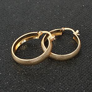 cheap Earrings-Women's Hoop Earrings Classic Love Classic Vintage Earrings Jewelry Gold For Gift Daily 1 Pair