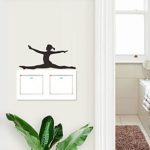 cheap Wall Stickers-Landscape / Shapes Wall Stickers People Wall Stickers Light Switch Stickers, PVC Home Decoration Wall Decal Wall / Switch Decoration 5pcs / 1pc