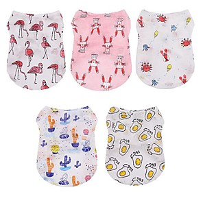 cheap Dog Clothes-Dog Cat Vest Dog Clothes Yellow Red Fuchsia Costume Husky Golden Retriever Dalmatian Fabric Animal Character Stylish Sweet Style XS S M L XL