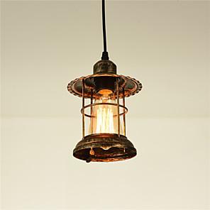 cheap Pendant Lights-OYLYW 14.5 cm Lantern Desgin Pendant Light Metal Painted Finishes Vintage / Country 110-120V / 220-240V