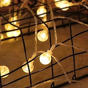 cheap LED String Lights-1m String Lights 10 LEDs Warm White Party / Decorative 5 V