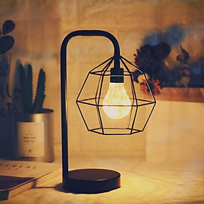 cheap Table Lamps-Table Lamp Creative / Decorative Modern Contemporary AA Batteries Powered For Bedroom <5V Black