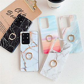 cheap Samsung Case-Case for Samsung scene graph Samsung Galaxy S20 S20 Plus S20 Ultra A51 A71 Classic marble pattern bright surface TPU material IMD technology ring bracket all-inclusive mobile phone case HJ1