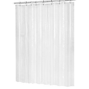 cheap Bath Body Care-Mildew Resistant Peva Antibacterial Waterproof Shower Curtain Transparent White Transparent Bathroom Curtain Luxury Bathroom Curtain With Hook 180cmx180cm