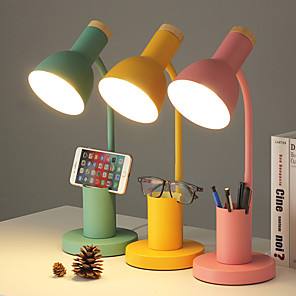 cheap Desk Lamps-Desk Lamp Eye Protection / Adjustable / Dimmable LED power supply For Bedroom / Study Room / Office AC100-240V Yellow / Blue / Pink