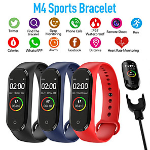 cheap Smartwatches-M4 Sports Fitness Pedometer Color IPS Smart Screen Bracelet Blood Pressure Bracelet Walking Counter Smart Bracelet Men's Women's Watch
