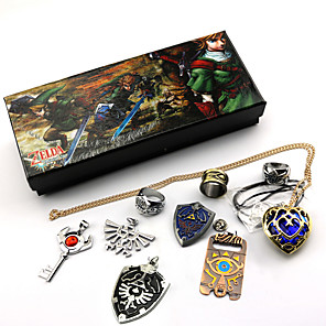 cheap Wind Instruments-Accessories / Jewelry Inspired by The Legend of Zelda Link / Cosplay Anime / Video Games Cosplay Accessories Rings / Necklace / Brooch Artificial Gemstones / Alloy Men's / Women's 855